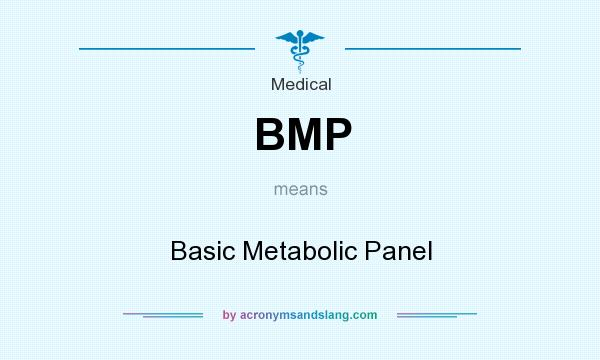 What does BMP mean? It stands for Basic Metabolic Panel