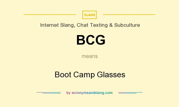 """BCG - """"Boot Camp Glasses"""" by AcronymsAndSlang.com"""