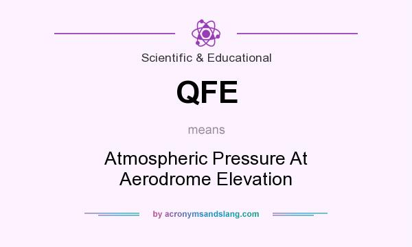 What does QFE mean? It stands for Atmospheric Pressure At Aerodrome Elevation