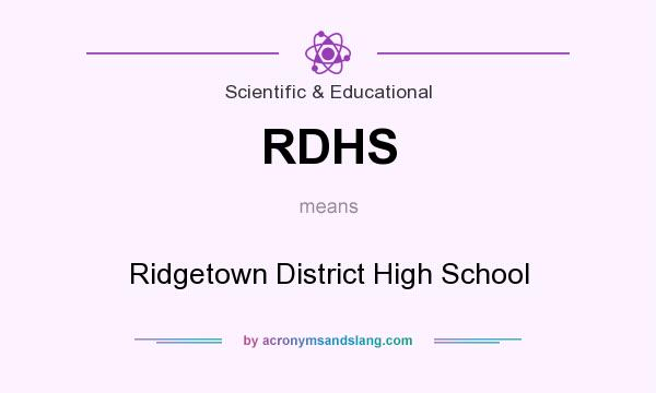 What does RDHS mean? It stands for Ridgetown District High School