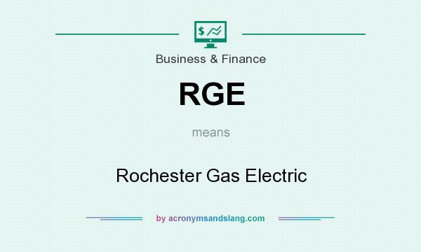 What does RGE mean? It stands for Rochester Gas Electric