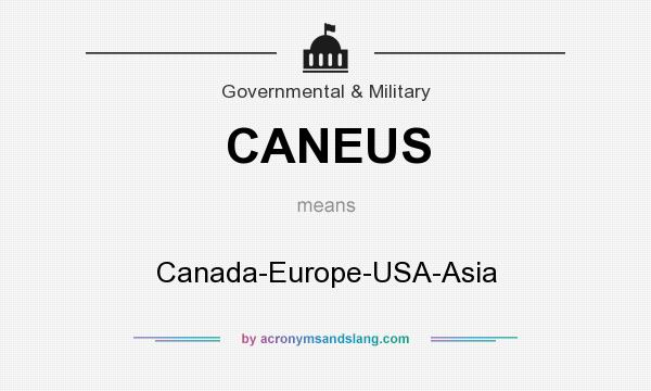 What does CANEUS mean? It stands for Canada-Europe-USA-Asia
