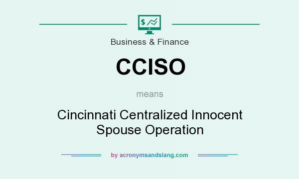 What does CCISO mean? It stands for Cincinnati Centralized Innocent Spouse Operation