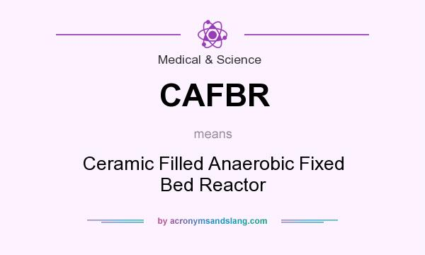 What does CAFBR mean? It stands for Ceramic Filled Anaerobic Fixed Bed Reactor