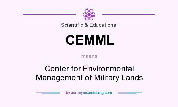 What does CEMML mean? It stands for Center for Environmental Management of Military Lands