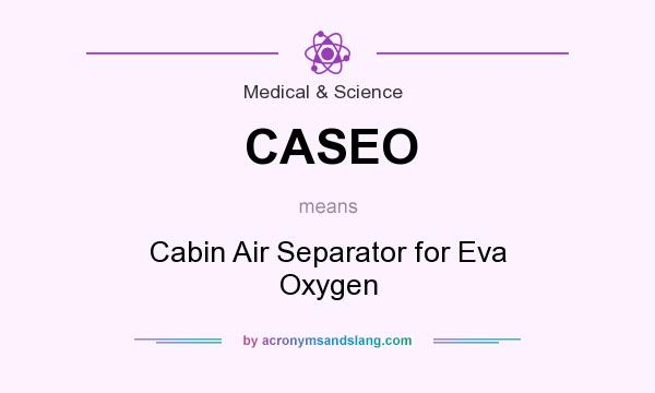 What does CASEO mean? It stands for Cabin Air Separator for Eva Oxygen