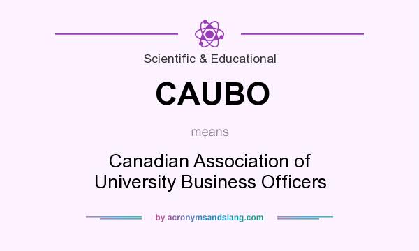 What does CAUBO mean? It stands for Canadian Association of University Business Officers