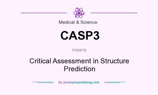 What does CASP3 mean? It stands for Critical Assessment in Structure Prediction