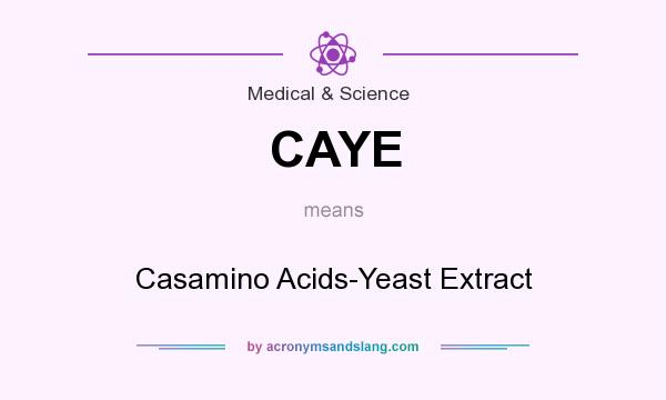 What does CAYE mean? It stands for Casamino Acids-Yeast Extract
