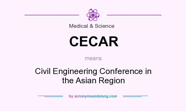 What does CECAR mean? It stands for Civil Engineering Conference in the Asian Region