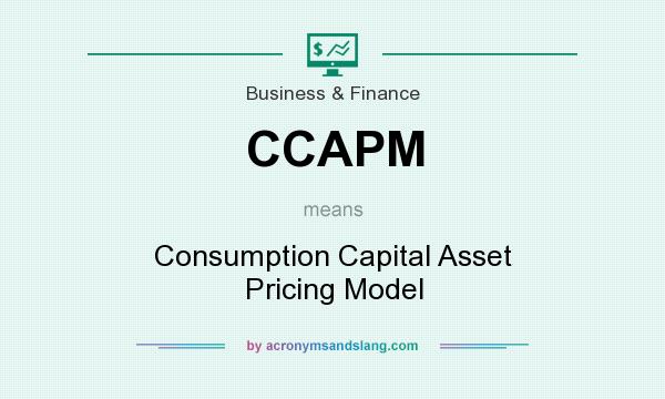 What does CCAPM mean? It stands for Consumption Capital Asset Pricing Model