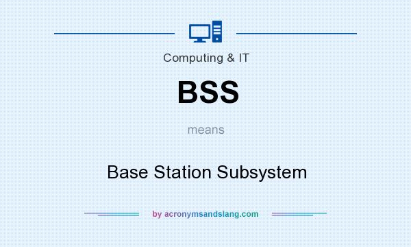 What does BSS mean? It stands for Base Station Subsystem