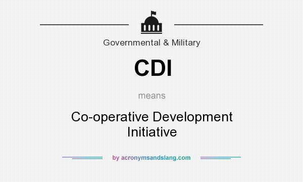 What does CDI mean? It stands for Co-operative Development Initiative