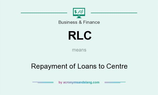What does RLC mean? It stands for Repayment of Loans to Centre