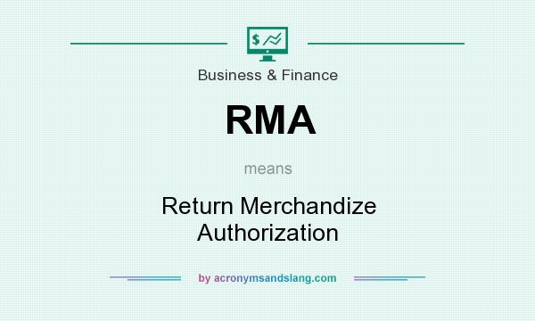 What does RMA mean? It stands for Return Merchandize Authorization