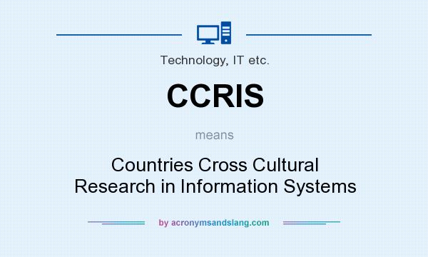 What does CCRIS mean? It stands for Countries Cross Cultural Research in Information Systems