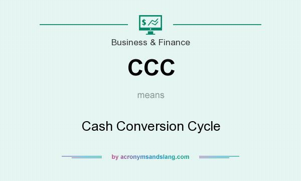 What does CCC mean? It stands for Cash Conversion Cycle