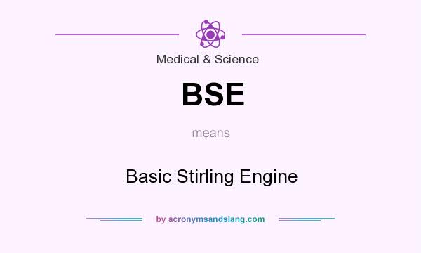 What does BSE mean? It stands for Basic Stirling Engine