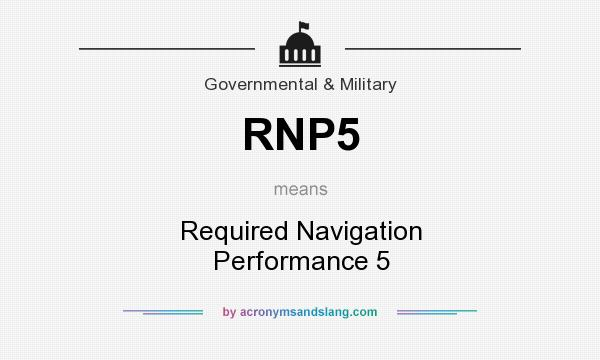 What does RNP5 mean? It stands for Required Navigation Performance 5