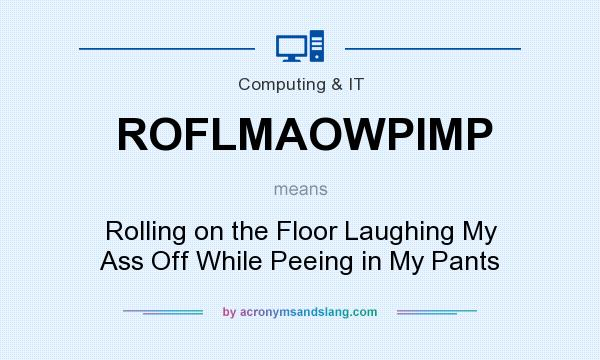 What does ROFLMAOWPIMP mean? It stands for Rolling on the Floor Laughing My Ass Off While Peeing in My Pants