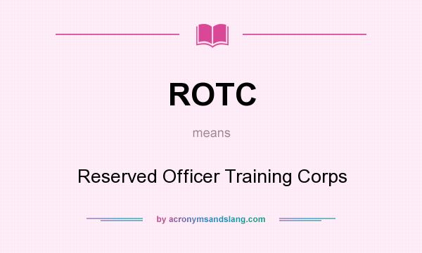 ROTC in universities- what does it mean?