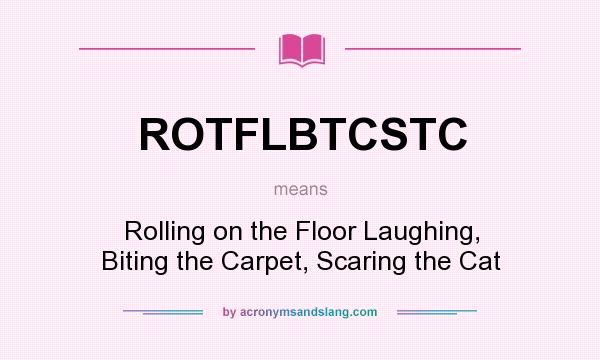 What does ROTFLBTCSTC mean? It stands for Rolling on the Floor Laughing, Biting the Carpet, Scaring the Cat