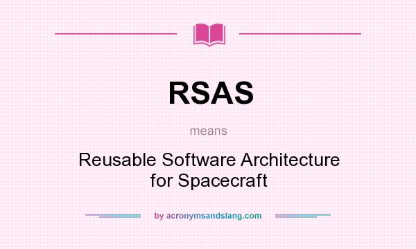 Rsas reusable software architecture for spacecraft in for What does architecture mean