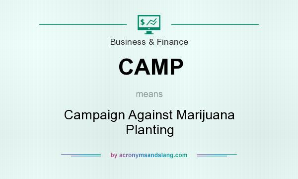 What does CAMP mean? It stands for Campaign Against Marijuana Planting
