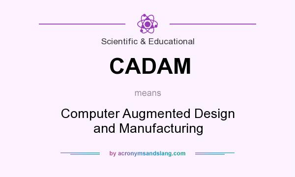 What does CADAM mean? It stands for Computer Augmented Design and Manufacturing