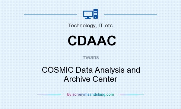 What does CDAAC mean? It stands for COSMIC Data Analysis and Archive Center