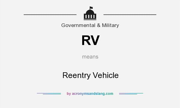 What does RV mean? It stands for Reentry Vehicle
