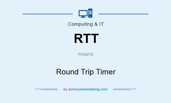 What does RTT mean? It stands for Round Trip Timer