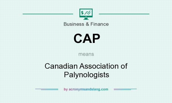What does CAP mean? It stands for Canadian Association of Palynologists