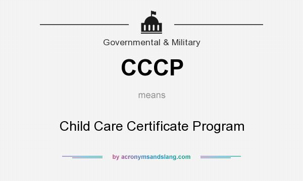 CCCP - Child Care Certificate Program in Government & Military by ...