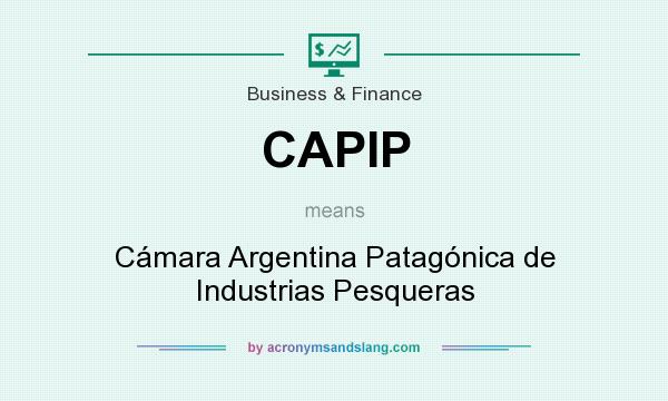 What does CAPIP mean? It stands for Cámara Argentina Patagónica de Industrias Pesqueras