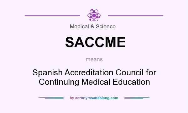 What does SACCME mean? It stands for Spanish Accreditation Council for Continuing Medical Education