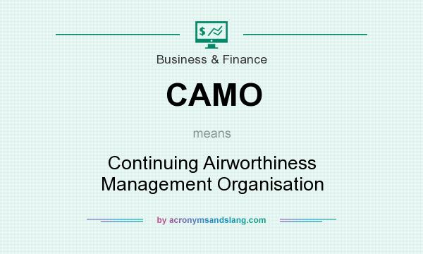 What does CAMO mean? It stands for Continuing Airworthiness Management Organisation