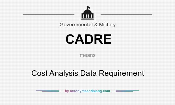 What does CADRE mean? It stands for Cost Analysis Data Requirement