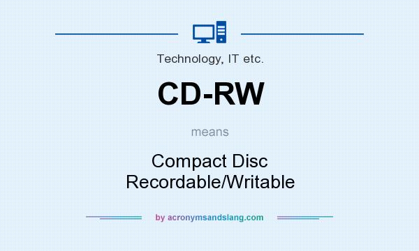 What does CD-RW mean? It stands for Compact Disc Recordable/Writable