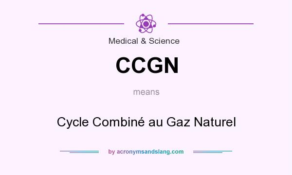 What does CCGN mean? It stands for Cycle Combiné au Gaz Naturel