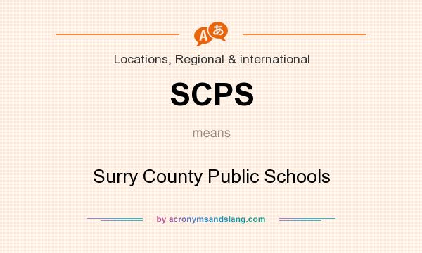 What does SCPS mean? It stands for Surry County Public Schools