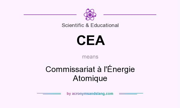 What does CEA mean? It stands for Commissariat à l`Énergie Atomique