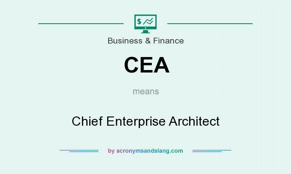 What does CEA mean? It stands for Chief Enterprise Architect