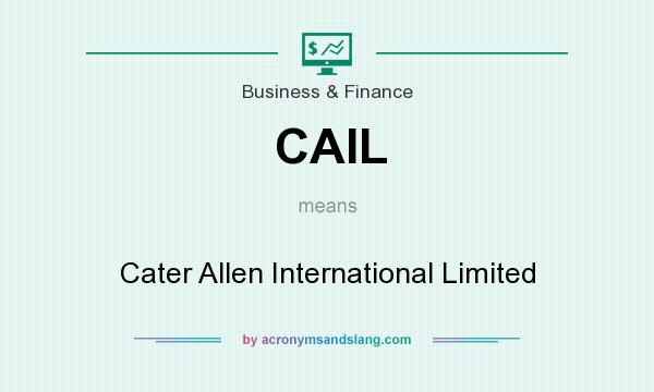 What does CAIL mean? It stands for Cater Allen International Limited