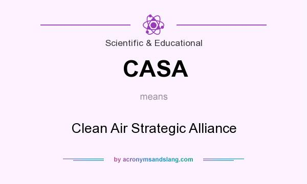 What does CASA mean? It stands for Clean Air Strategic Alliance