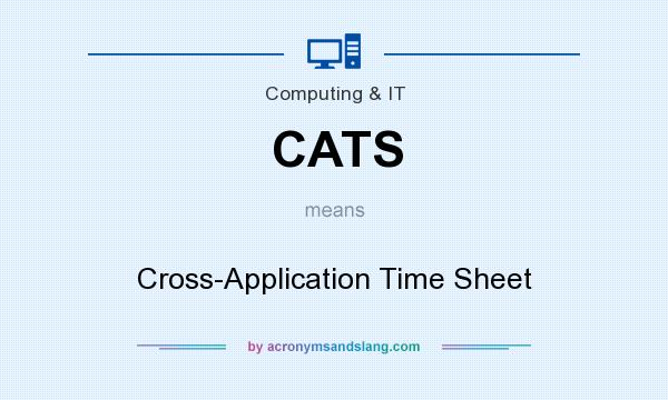 What does CATS mean? It stands for Cross-Application Time Sheet