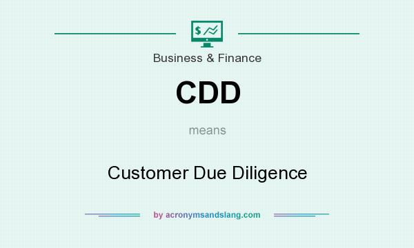 What does CDD mean? It stands for Customer Due Diligence