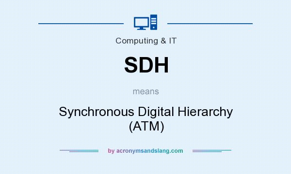 What does SDH mean? It stands for Synchronous Digital Hierarchy (ATM)