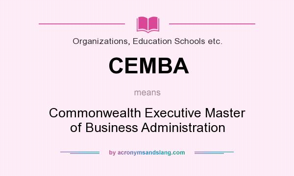 Executive Master Of Business Administration