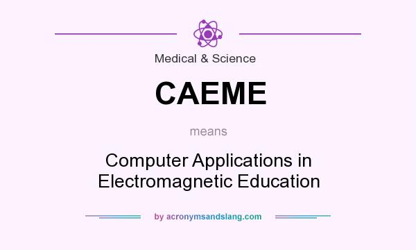 What does CAEME mean? It stands for Computer Applications in Electromagnetic Education